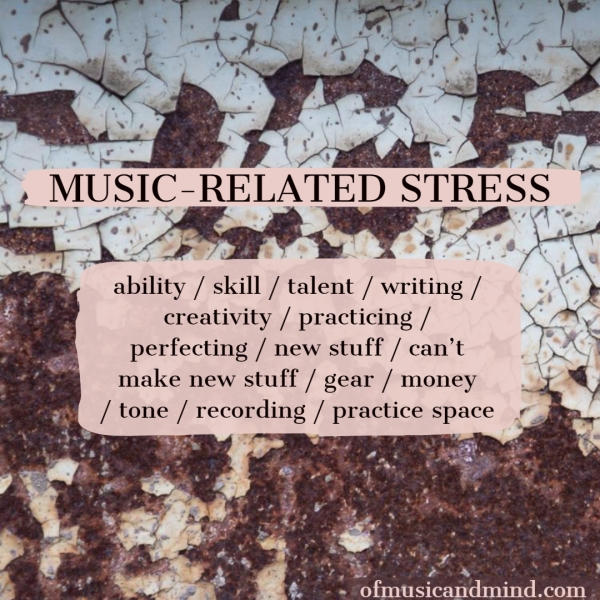 Music-Related Stress. Photo by Trevor Richards.