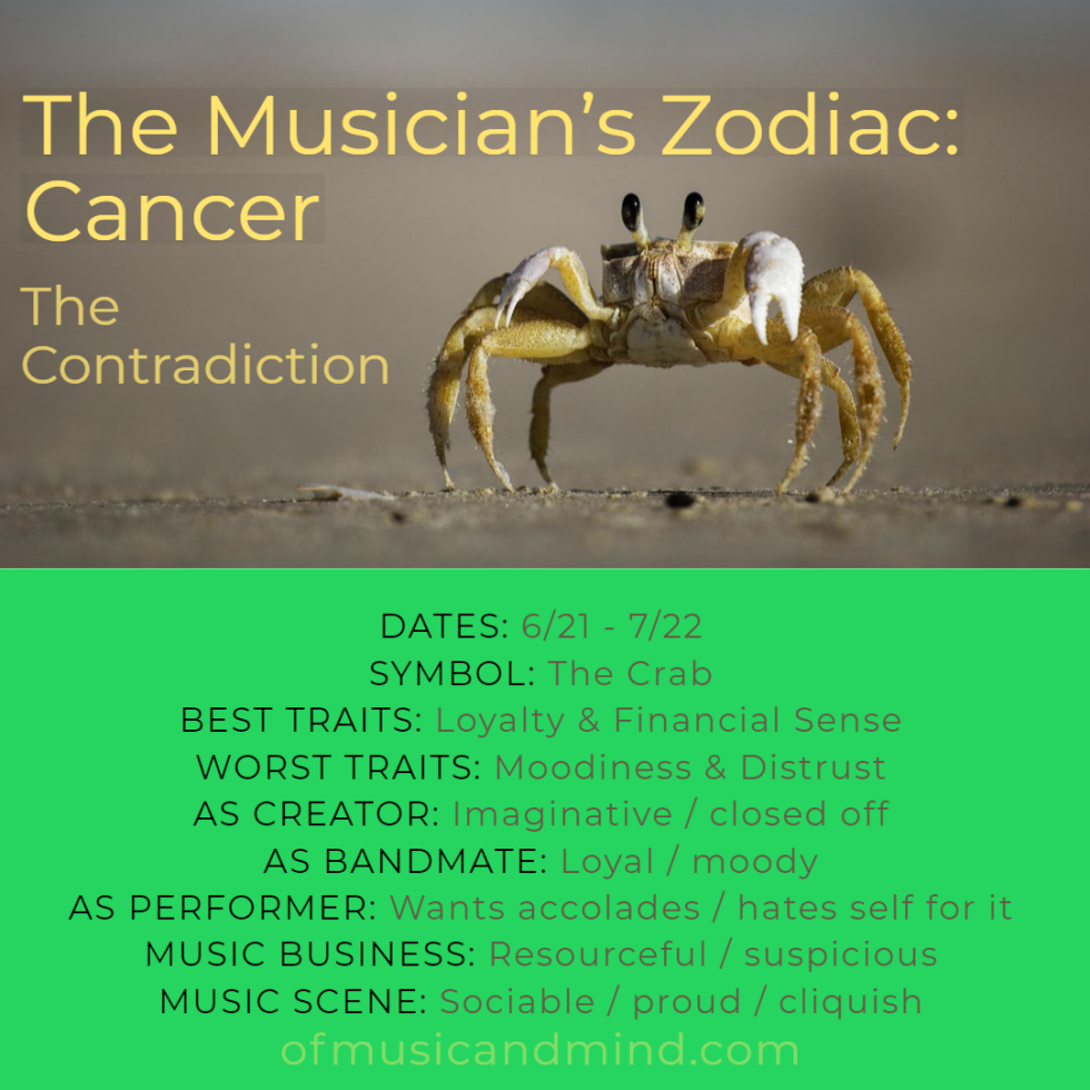 The Musician's Zodiac: Cancer