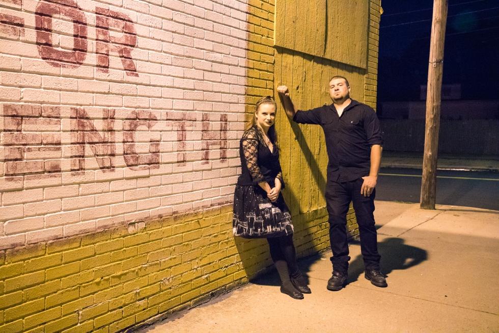 Jennifer and Rick outside Cedars