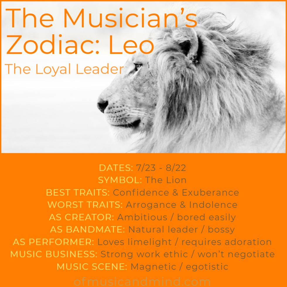 The Musician's Zodiac_ Leo