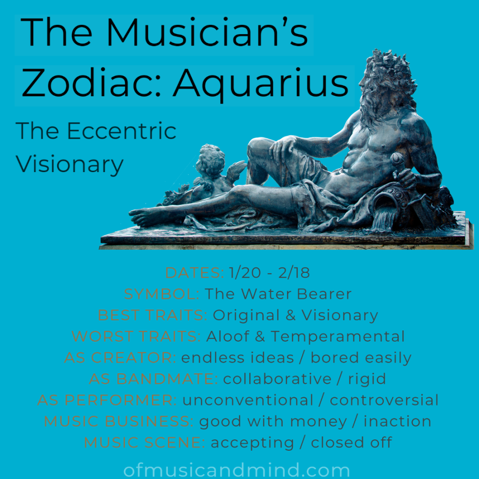 The Musician's Zodiac: Aquarius